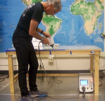 Doug setting up for an ESD test